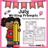 Kindergarten Writing prompts: Daily writing & Opinion writing (July)