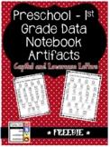 FREEBIE Kindergarten Data Artifact - Letters I Know