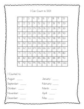 Kindergarten Data & Assessment Folders