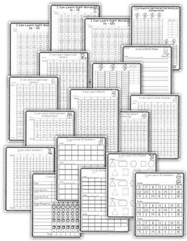 Kindergarten Data Binder - Kindergarten Data Notebook