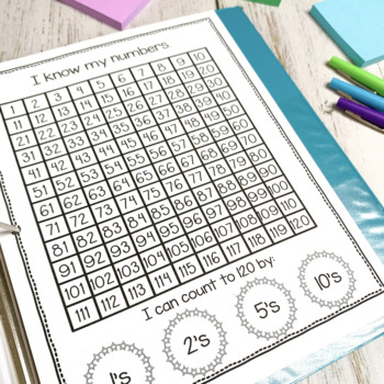 Kindergarten Student Data Binder for Reading and Math