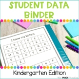Kindergarten Student Data Binder for Reading and Math