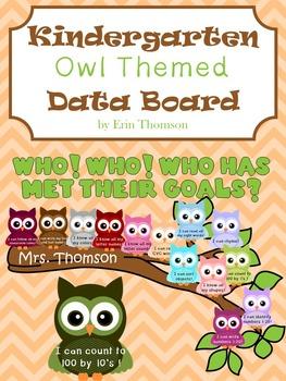 Kindergarten Data Board ~ Owl Themed