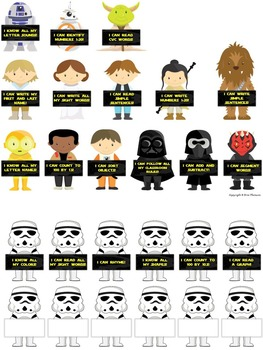 Kindergarten Data Board ~ Star Wars Themed