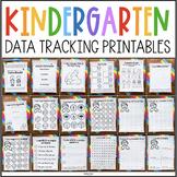 Kindergarten Data Tracking Printables for Data Books