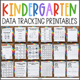 Kindergarten Data Tracking Printables for Data Books