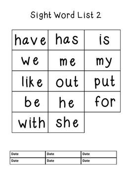 Kindergarten Data Folder