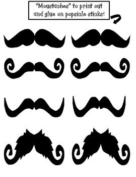 """Kindergarten Data Graphing Booklet: I """"Moustache"""" You a Question!"""
