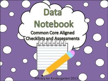 Kindergarten Data Notebook (Common Core Aligned Assessments)