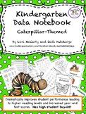 Kindergarten Data Notebook/Data Binder w. homework - common core skills aligned