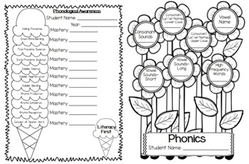 Kindergarten Data Notebook Pages
