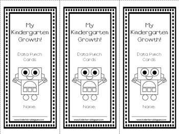 Kindergarten Data Punch Cards