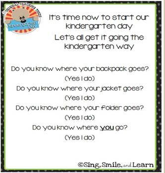 Kindergarten Day Song