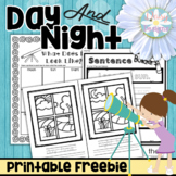 Kindergarten Day Time, Night Time, Space Pack FREE SAMPLER - Day and Night