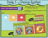 Daily 5 - Choice Cards and System {FREEBIE}