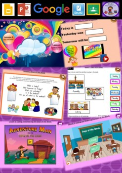 Kindergarten Days of the Week Smart Notebook and Unit of W