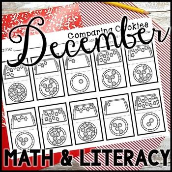 Kindergarten December Activities - Math and Literacy - No Prep
