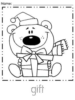 Kindergarten December Coloring Pages