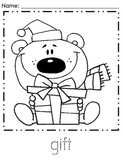 Kindergarten December Coloring Pages