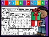 Kindergarten December Language Arts Freebie! (Common Core Aligned)