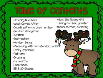 Kindergarten December Math Packet- Stations, Mini Lessons, Activities & Games