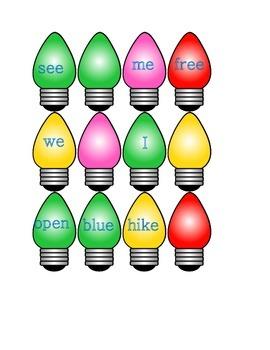 Kindergarten Silly Lights Long Vowel Literacy Center Week 1 & 2