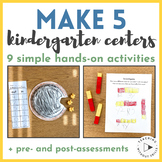 """Kindergarten Decomposing """"Make 5"""" Hands-On Centers + Activities"""