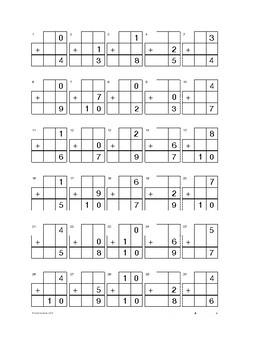 Kindergarten Decomposition Worksheets and Quizzes 10-0
