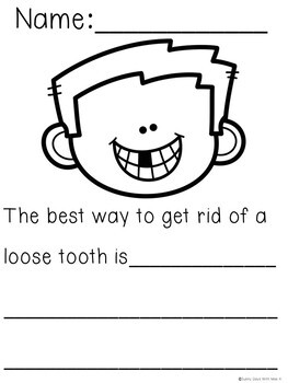 Kindergarten Dental Health Writing - Dental Health Month Activites - No Prep!