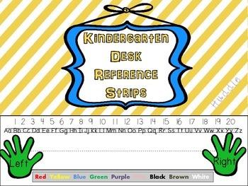 Kindergarten Desk Reference Strips