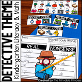 Kindergarten Detective Theme Centers   Math and Literacy A