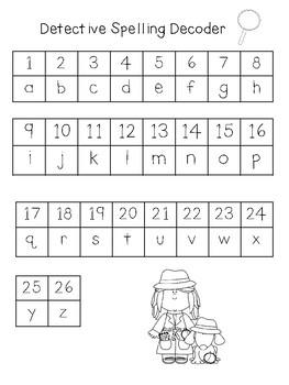 Kindergarten Detective Spelling: Journeys Unit 5