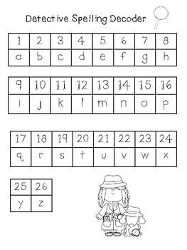 Kindergarten Detective Spelling: Journeys Units 1-3
