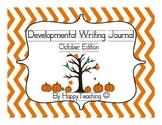 Kindergarten Developmental Writing Journal October Edition