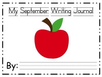 Kindergarten Developmental Writing Journal September Edition