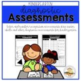 Kindergarten Diagnostic Assessments for Back to School