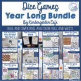 Kindergarten Dice Games for the Year Bundle!