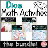 Kindergarten Dice Math Activities Bundle for Kindergarten