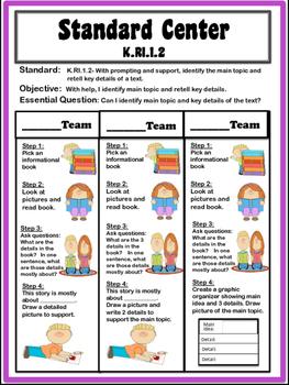 Kindergarten Differentiated Centers for Informational Standards