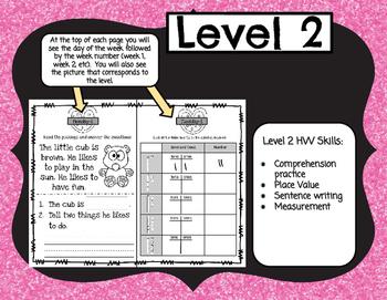 Kindergarten Differentiated Homework Set 7-February