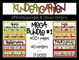 Kindergarten Differentiated Math and Literacy Center MEGA