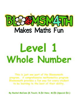 Bloomsmath Differentiated Whole Number Maths Activities for Kindergarten