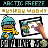 Kindergarten Digital Center: Arctic Freeze Mystery Words (