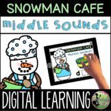 Kindergarten Digital Center: Snowman Cafe Middle Sounds (J