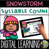 Kindergarten Digital Center: Snowstorm Syllables (January