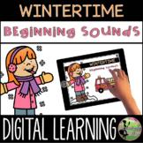 Kindergarten Digital Center: Winter Beginning Sounds (Janu
