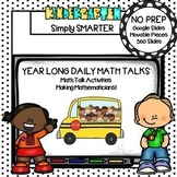 Kindergarten Digital Daily Math Talks For GOOGLE SLIDES Year Long Bundle