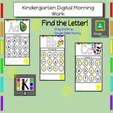 Kindergarten Digital Letter Activities: Letters Aa-Zz