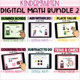 Kindergarten Digital Math Bundle 2 for GOOGLE CLASSROOM on