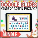 Kindergarten Digital Phonics Centers for Google Slides Bundle